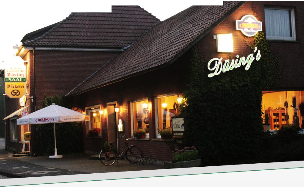 Tischdekoration bei einer Hochzeit im Gasthaus Düsing in Schapen (Emsland)