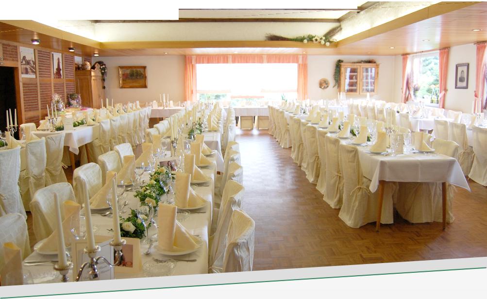 Der Saal im Gasthaus Düsing in Schapen (Emsland)